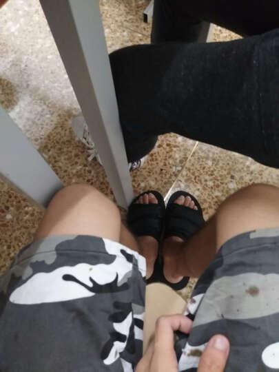个性拖鞋男沙滩鞋2017夏季新款情侣凉鞋透气露趾休闲防滑一字拖林弯弯潮牌GD权志龙同款鞋子 黑色 L 39-40码 晒单图