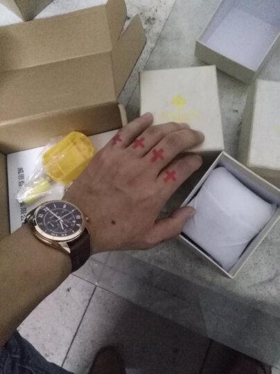 威思登 男士手表 男休闲石英表 学生皮带情侣手表防水 非机械表 咖啡色罗马面 晒单图