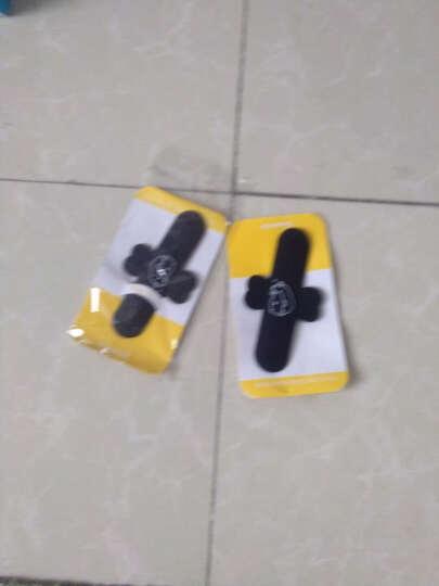 哈马 U型懒人手机支架 创意贴手机平板车载通用电影床头支架底座 可定制logo 黑色 晒单图