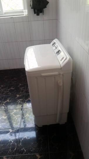 申花 XPB60-661S 6.0公斤半自动洗衣机 双桶双缸 宿舍家用 半自动脱水甩干机 透明蓝 晒单图