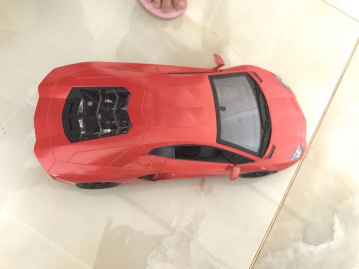 2018大型升级款1:12布加迪变形车遥控车电动赛车男孩4-6岁儿童玩具车遥控汽车模 34cm方向盘重力感应(黄色) 晒单图