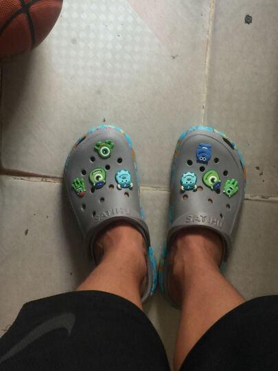 2018春夏新款韩版卡洛驰花园鞋洞洞鞋鞋花鞋扣 星饰品鞋配件crocs背包卡通配饰潮人 酒红色 警车珀利8个1套 晒单图