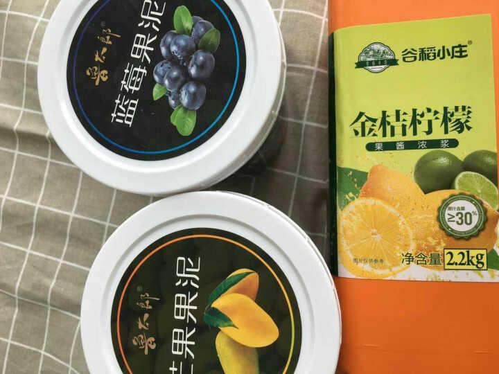 鲁太郎 芒果果酱果泥烘焙甜品奶茶店原料批发含果肉果粒酱1.36kg 晒单图