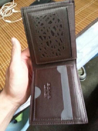 NABOWAN男士长款钱包商务男式手包休闲手拿包商务韩版皮包潮包 浅灰色 晒单图