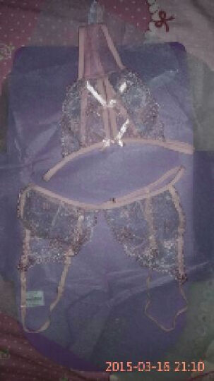 铃兰花亭 性感情趣内衣女三件套装诱惑睡衣 蕾丝文胸胸罩比基尼三点式 丁字裤内裤和服睡袍 蓝色三点式 均码 晒单图