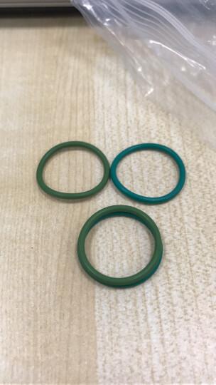 腾驰 O型圈 密封圈 氟橡胶橡胶圈垫圈1个 绿色外径7.5*2 晒单图