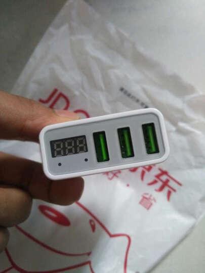 毕亚兹(BIAZE) 3口USB充电器 手机平板充电插头 数字显示 M11白色 支持苹果/三星/小米/华为/OPPO/VIVO 晒单图