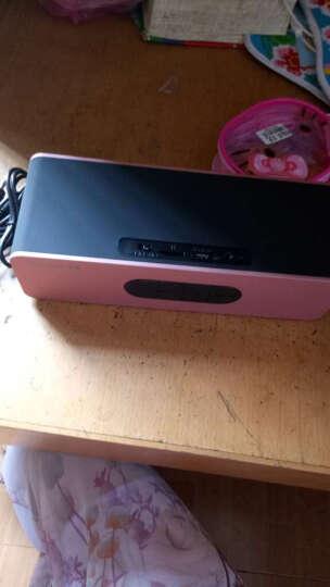纽曼无线蓝牙音箱 创意双喇叭迷你电脑小音响低音炮 便携插卡收音机 华为小米手机音箱 玫瑰金 晒单图