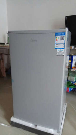 美的(Midea)93升 单门冷藏迷你家用小冰箱 节能静音不占地(浅灰) BC-93M 晒单图