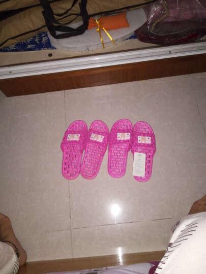 天淑 凉拖鞋女男夏季防滑情侣浴室洗澡拖鞋漏水亲子可爱室内居家软底按摩 女-紫色 38-39(适合37-38码的脚穿 ) 晒单图