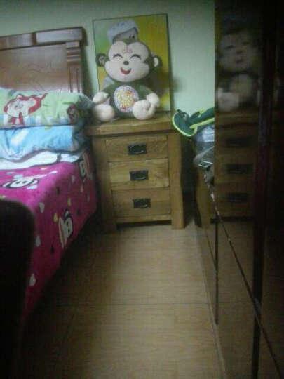 华谊(HUAYI) 床头柜 实木床边柜 橡木三抽斗柜储物柜子 英伦乡村 晒单图