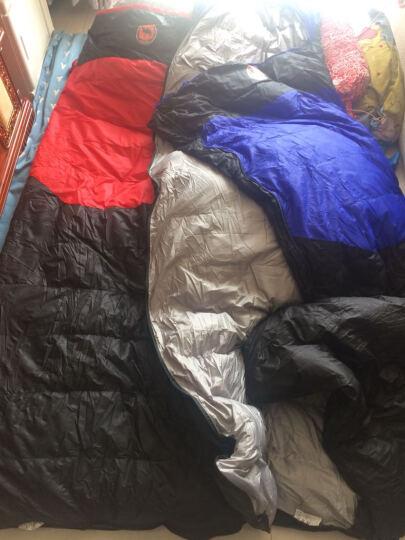 羽绒睡袋成人户外秋冬保暖午休帐篷睡袋 可拼接 2600g羽绒睡袋.蓝色 晒单图