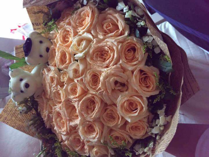 唯雅 鲜花速递33朵红玫瑰花束 同城送花全国花店送花上门当日速达 送女友老婆惊喜 唯爱-33朵香槟玫瑰 晒单图