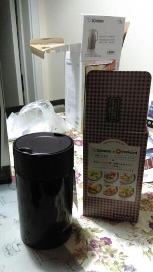 日本进口象印(ZOJIRUSHI)儿童保温桶男女学生食物罐 真空焖烧罐 不锈钢保温桶/壶  SW-HB55-VD 550ML咖啡紫 晒单图