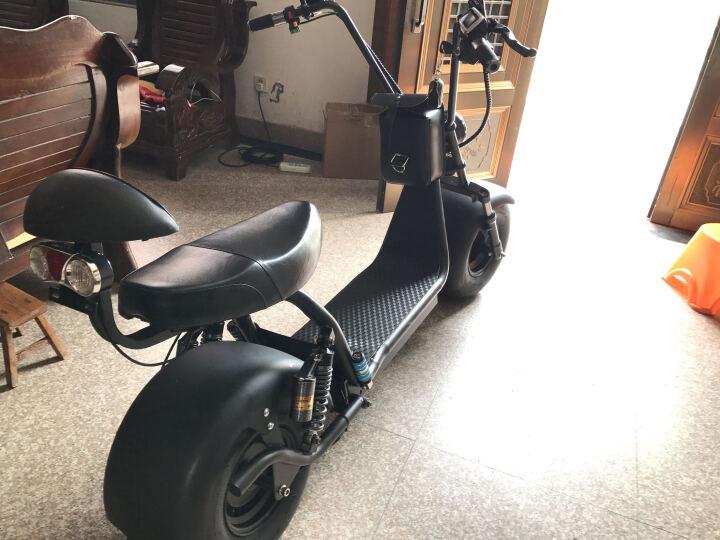 骏杰动感 哈雷电动车双人60v铅酸电池成人电瓶车代步两轮滑板电动自行车太子摩托车电踏板车 618 定金50抵150 60v12a超威电池带报警器 晒单图