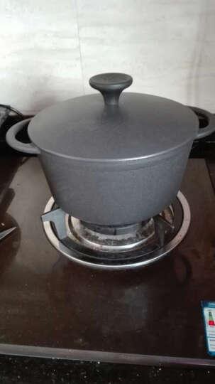 铸味汤锅 铸铁锅煲汤锅电磁炉明火通用(不含蒸笼) 德国锅22cm配铁盖 晒单图