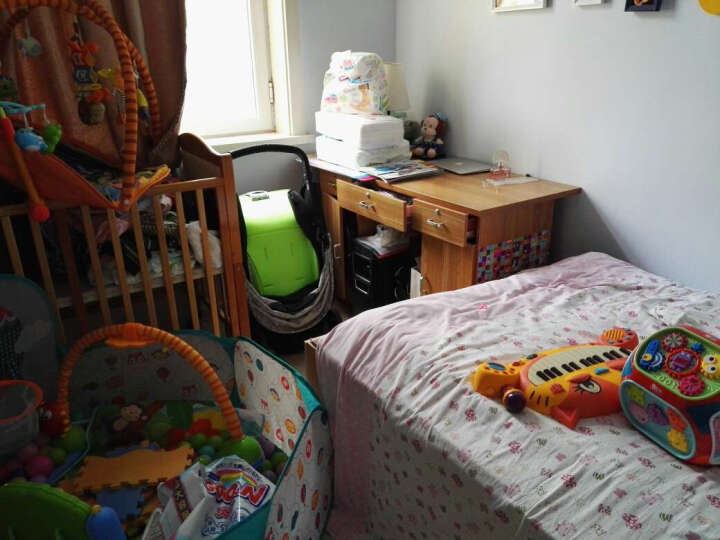 宝丽/Baoli婴儿玩具智慧屋儿童多功能游戏桌宝宝学习桌益智玩具1-3岁七面体学习机男孩女 1406B红色 晒单图