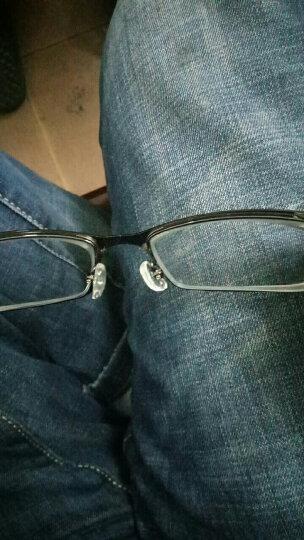 近视眼镜框男款钛合金眼镜架男眼镜潮气质成品半框近视眼镜架TR90超轻金属潮包邮 1.67品牌镜片配镜套餐(说下镜框颜色和度数) 晒单图