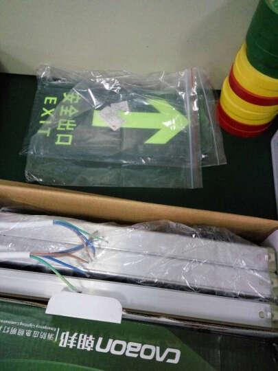 谋福 荧光安全出口直行 夜光地贴 疏散标识指示牌 方向指示牌 夜光安全楼梯左上指示 晒单图