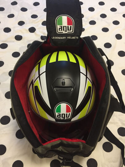 AGV头盔包摩托车机车骑士装备骑行单肩包头盔手提包防水 黑色 均码 晒单图