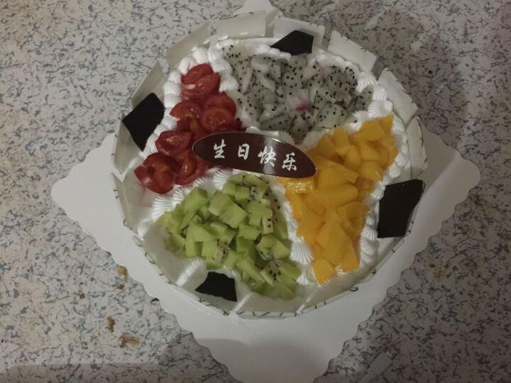 麦味美 鲜花蛋糕同城速递生日蛋糕定制全国预定 定制蛋糕北京上海天津广东深圳杭州 巧克力蛋糕+11朵红玫瑰2枝百合 8寸 晒单图