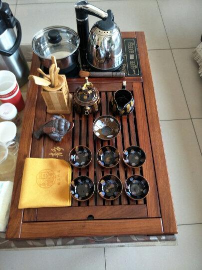 水墨当清(宁静致远)茶具套装陶瓷电磁炉四合一实木花梨木茶盘家用喝茶整套紫砂功夫茶具青花瓷 22紫砂如意配花梨聚宝盆茶盘 晒单图