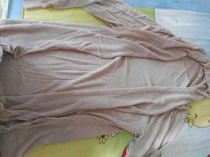 瑞凯妮空调衫女长袖2018夏薄款冰丝针织开衫女中长款披肩外搭防晒衣 灰色 M(建议80斤-95斤) 晒单图