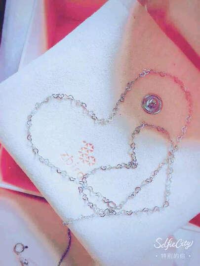 钻石小鸟 Zbird PT950铂金项链-女款时尚百搭随心配-心链爱 晒单图