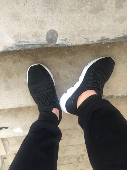 南极人运动鞋透气跑步鞋男 2017网面轻便休闲减震慢跑鞋 15-黑色 43 晒单图