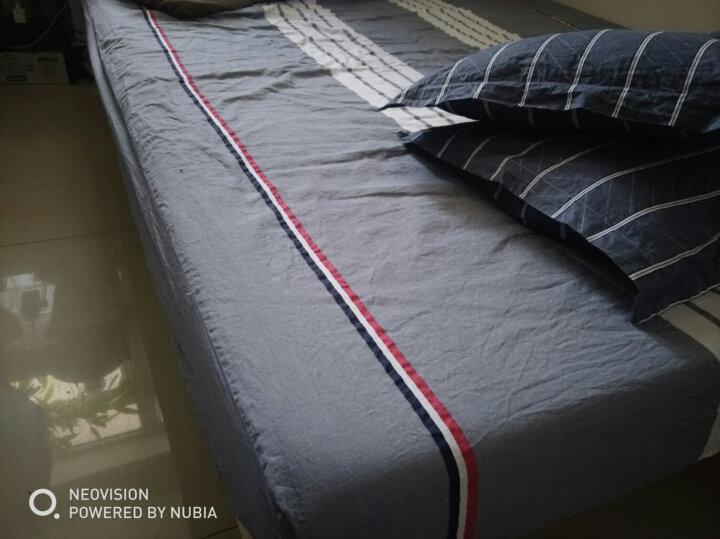 艾薇 床笠家纺 全棉床笠 席梦思防滑保护套床单床套 单件 小灰灰 150*200cm 晒单图