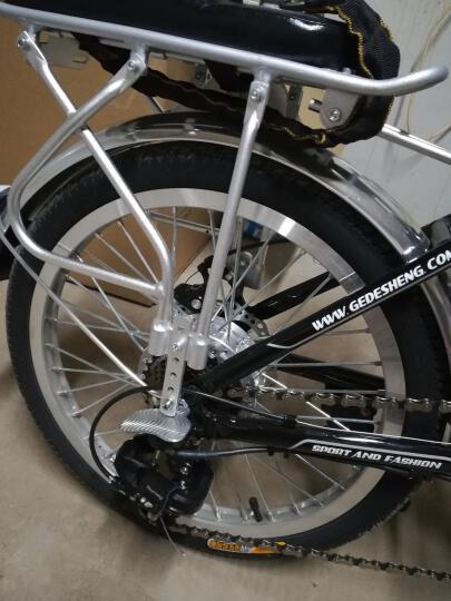 正步(ZB) 新国标电动自行车男女士成人代步迷你折叠电瓶车锂电池小型代驾助力电单车 20寸至尊版36V/黑色 晒单图