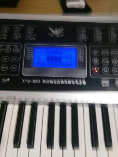 小天使 电子琴儿童 61键/49键 电子钢琴 儿童 迷你钢琴 学生初学者入门 电子钢琴 XTS-661 银色61键 教学系列 晒单图