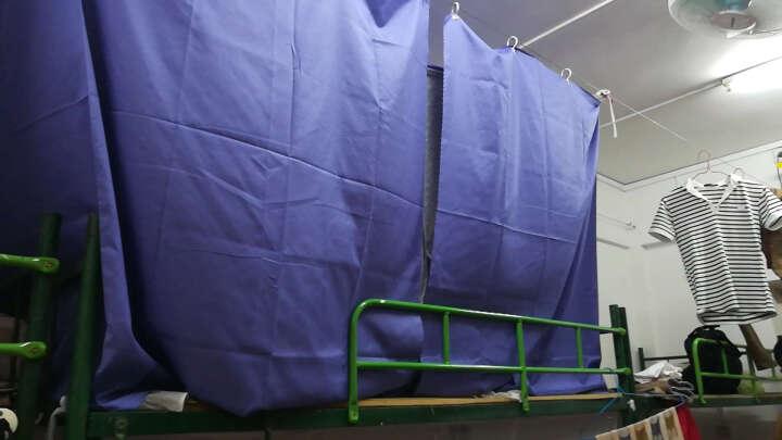 大学生寝室宿舍床帘透气遮光防尘顶上铺下铺纯色床幔布蚊帐素色涤棉布料 蓝紫色 2*1.35m床帘2片+顶 晒单图