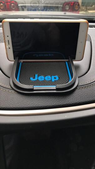 韩信 jeep指南者车载手机支架 1617款吉普新自由光车载防滑手机座垫JEEP自由光改装 jeep专用 蓝色 晒单图