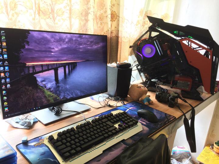 骨伽 COUGAR电脑主机箱 台式机中塔式侧透征服者游戏定制水冷机箱 银色 晒单图