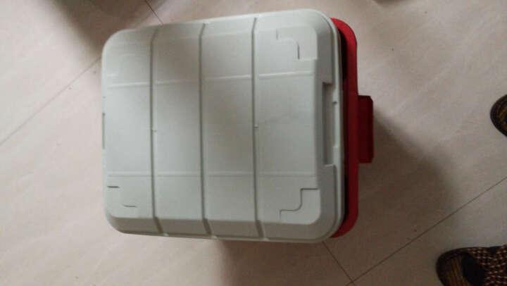 安马(Amausa)家车多用途密封后备箱居家收纳置物箱杂物整理箱 M400 32升 黄色 晒单图