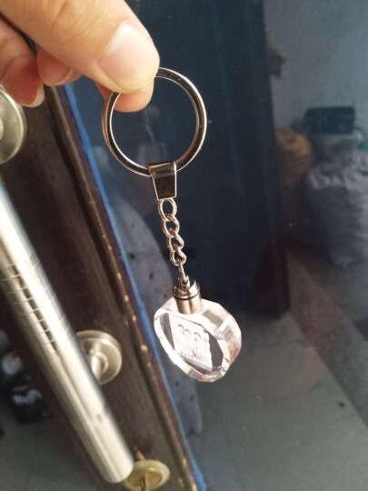 创意礼品 礼物 送爱人老婆生日礼物女生情侣送闺蜜女朋友礼物 玫瑰花水晶钥匙扣精品小礼物 全国包邮 心形来图定制 心形钥匙扣 晒单图