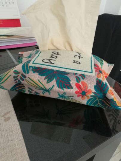 棉麻抽纸盒客厅卫生间家用车用餐巾纸套卡通可爱抽纸袋布艺 小清新 18*26cm 晒单图