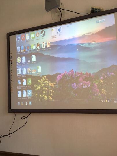 斯进科技 交互式红外电子白板多点智能互动触摸白板 教育培训一体智能电子白板 支持上门安装 88英寸灰色边(10点触控) 官配+电子白板移动支架 晒单图