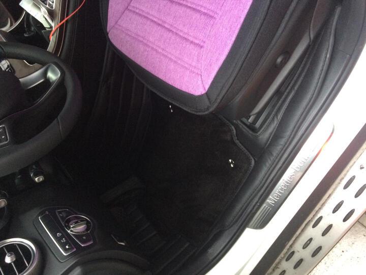 汽车脚垫全包围奔驰s级e级e300l glc260l gle320特斯拉model3 S X专用脚垫 真皮B款双层-红色【全牛皮 全包围】 s320l奔驰glc300l e200l gle 晒单图