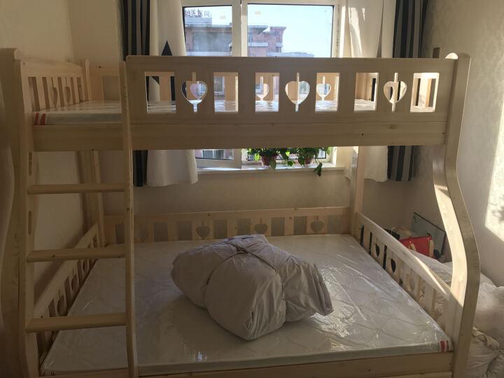邦利达居 儿童床全实木高低床子母床上下床双层床卧室组合芬兰松木 梯柜+书架+拖床 1350*2000 晒单图