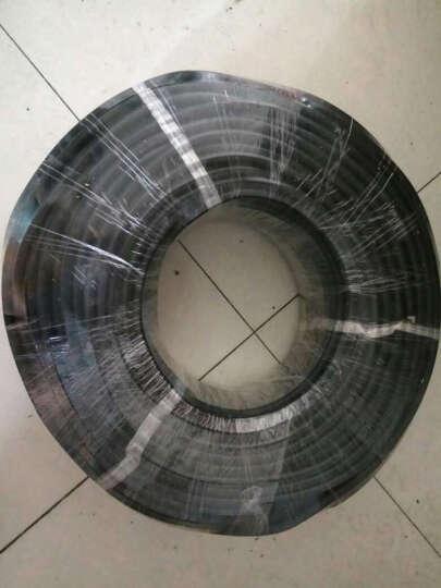JYS金胜电线电缆线二芯ZB-RVV2*2.5平方软护套线国标ZR阻燃纯铜芯线2芯户外电源线 黑色 50米 晒单图