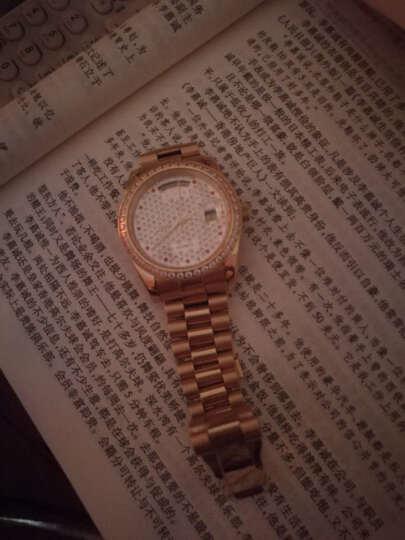 金仕盾(JSDUN)满天星手表 时尚女表水钻表女士手表机械表 镶钻商务防水夜光金表8737 满天星男表 晒单图