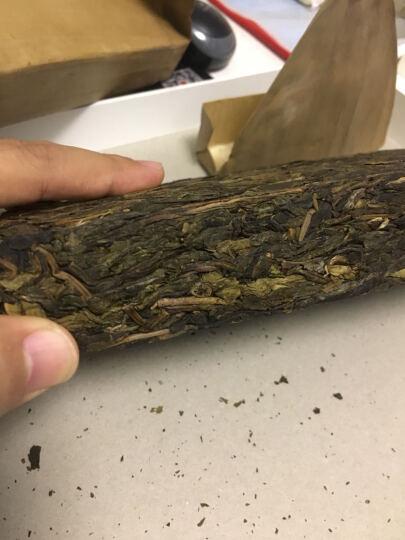 2012易武麻黑黄片生茶砖  云南西双版纳易武古树普洱茶生茶 1000g茶砖 黄金叶 茶叶 晒单图