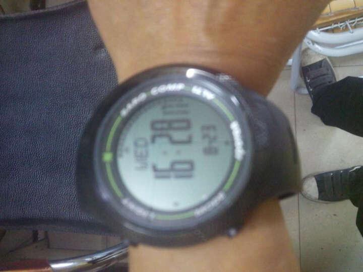 司博威 户外运动3D计步防水高度气压温度天气登山徒步指南针跑步手表 黑色 螺纹黑底 晒单图