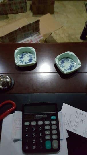 麦当 密胺烟灰缸 彩色塑料烟灰缸 个性简约创意烟灰缸 卧室客厅KTV圆形烟灰缸 烟灰缸【红色0010】 晒单图
