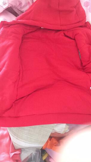 小羊肖恩 童装秋冬款儿童外套男童外套上衣中大童女童加厚保暖棉服外套 2W6SS3247-1大红 130cm 晒单图