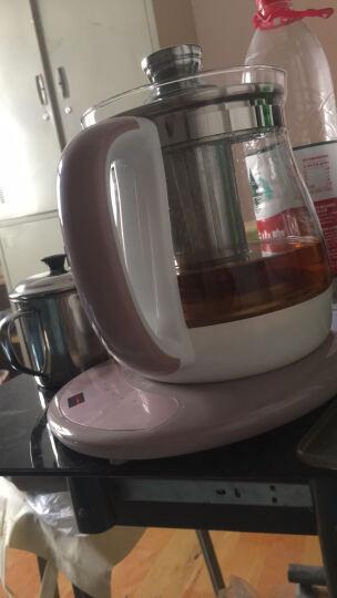 容威(rongwei)养生壶煮茶壶煎药壶玻璃烧水壶1.8L多功能煮水壶黑茶煮茶器花茶壶 玫瑰粉(带滤网) 晒单图