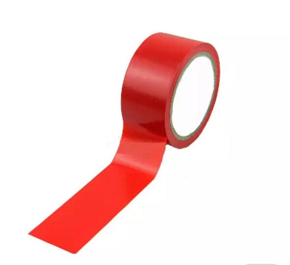 皇诚 警示胶带地板胶带地面划线PVC彩色斑马线18米长 宽4.8cm红白色 晒单图