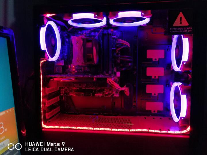 追风者(PHANTEKS) 416PTG钢化玻璃RGB版 黑红 ATX水冷电脑机箱(RGB灯控/280水冷背线/独立电源仓/配风扇) 晒单图